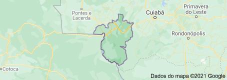 Mapa de Cáceres (Mato Grosso)